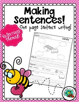 Valentine's One Page Sentence Process