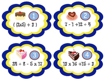 Valentines  Order of Operations