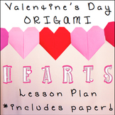 Valentine's Origami Hearts with ORIGAMI PAPER AND EASY PRINTABLE INSTRUCTIONS