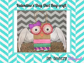 Valentines Owl craft bag