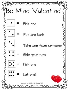 Valentine's Party Dice Game!