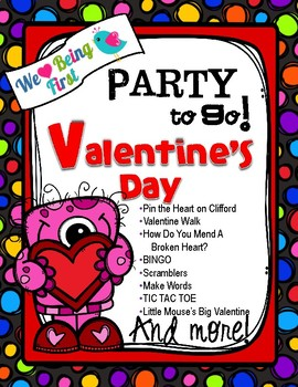 Valentines Party To Go ~ Valentines Games and Activites