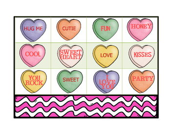 Valentine's Day Bingo with Conversation Hearts