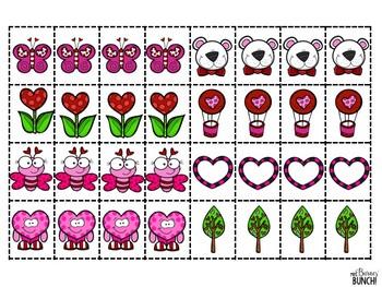 Valentine Pattern Math Center