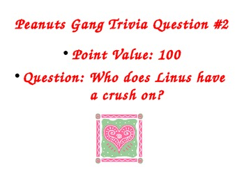 Valentine's Peanuts Gang Power Point/Trivia Game