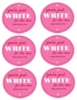 Just Write for our Class Valentine's Day Gift
