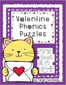 Valentines Phonics Puzzles