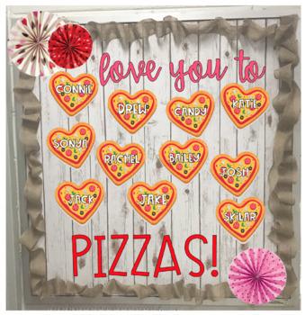 Valentines Pizza Bulletin Board Craft