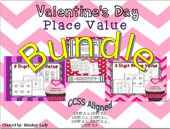 Valentine's Place Value BUNDLE