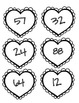 Valentine's Place Value Match Game