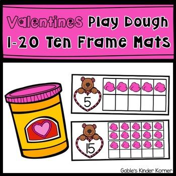 Valentines Play Dough Ten Frame Mats