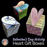 "Valentine's Day Craft Activity: ""Pop Art""  Gift Box or Candy Box"