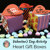 "Valentine's Day Craft Activity: ""Pop Art""  Gift/Candy Boxes"