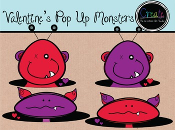 Valentine's Pop Up Monsters