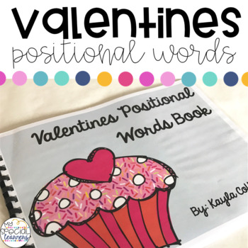 Valentines Positional Words Book