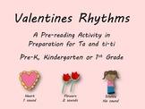 Valentine's Day Rhythm Pre-Reading Activity, Ta, Ti-ti, Ta