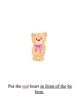 Valentine's Prepositions Book