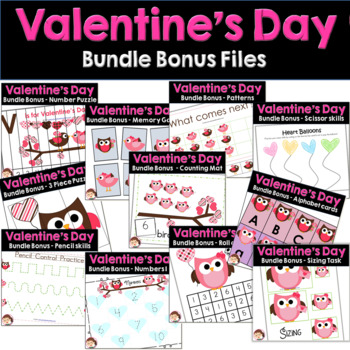 Valentine's Day Preschool and PreK Literacy and Maths Activities