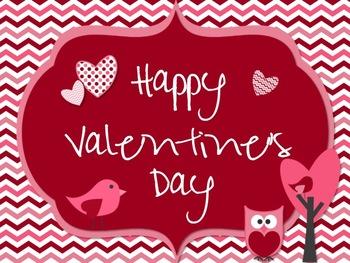 {FREE!}Valentine's Printable -Owls, Birds, Chevron and Dot