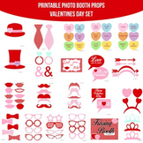Valentines Printable Photo Booth Prop Set