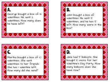 Valentine's Problem Solving Task Cards