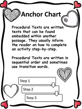 Valentine's Procedural Text and  Comprehension