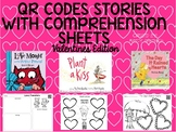 Valentines QR Codes with Comprehension Sheets