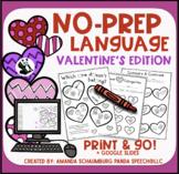 Valentines Quick NO PREP Language Pack