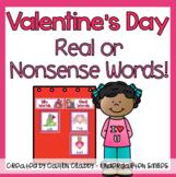 Valentines Real/Nonsense Word Sort