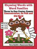 St Valentine's Rhyming Words with Word Families Center Gam