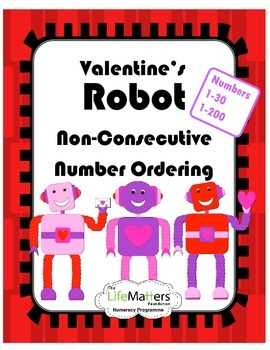 Valentine's Robot Non-Consecutive Number Ordering - Differ