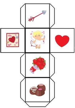 Valentines Roll Tally Graph Math Activity Set
