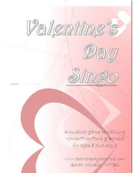 Valentine's SINGO Game w/Customizable Template