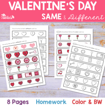 Valentine's Day Same and Different