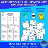 Valentines | Secret Picture Music Tiles | Key Signatures |