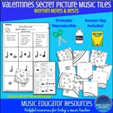 Valentines | Secret Picture Music Tiles | Rhythm | Reproducible
