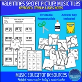 Valentines | Secret Picture Music Tiles | Notes | Reproducible