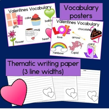 Valentines Sentence Picture Match Reading Center