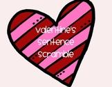 Valentine's Sentence Scramble