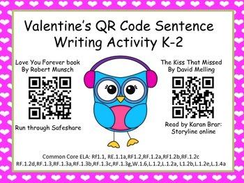 Valentine's Sentences K-2 (Common Core Aligned)