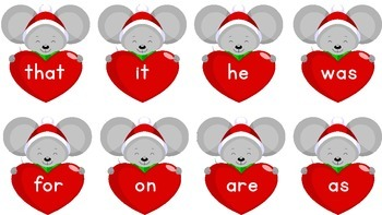 Valentine's ABC Match and Sight Words