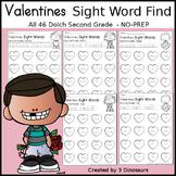 Valentines Sight Word Find: Second Grade