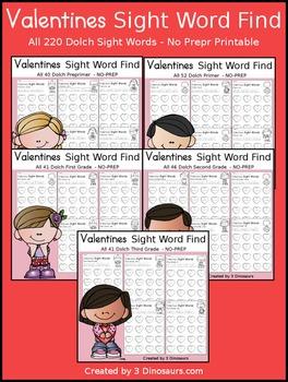 Valentines Sight Word Find (The Bundle)