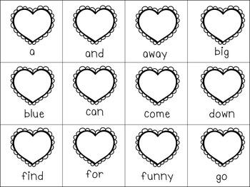 Valentine's Sight Word Games