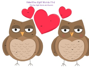 Valentine's Sight Word Seek and Write (kinder- SET OF 3