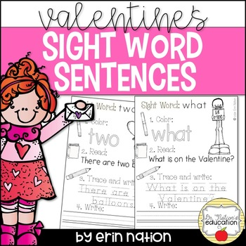 Valentine's Sight Word Sentences