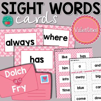 Valentines Sight Words
