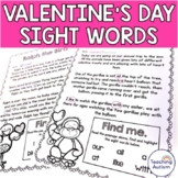 Valentines Sight Words Read and Highlight