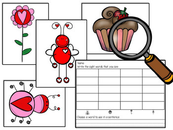 Valentine's Sight Words Search