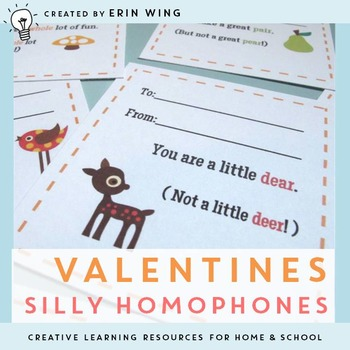 Valentines: Silly Homophones & Flying Friends